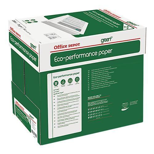 PAPIER OFFICE DEPOT A4 75 G/M² BLANC GREEN ECO PERFORMANCE - 2500 FEUILLES