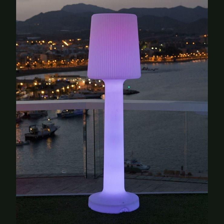 CARMEN-LAMPADAIRE D'EXTÉRIEUR RGB RECHARGEABLE H165CM BLANC NEW GARDEN