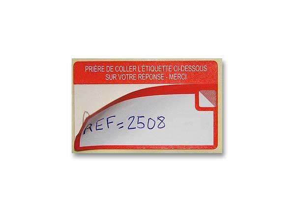 ROULEAU DE 500 ÉTIQUETTES DOUBLE ÉTIQUETAGE 36X59 MM - NEUF - AVERY