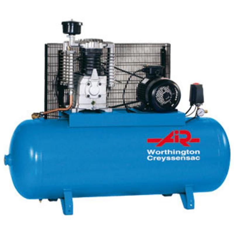 COMPRESSEUR PIST.DIXAIR 1,5 KW 15,3M3/H 2CV 10BAR 230MONO 90L