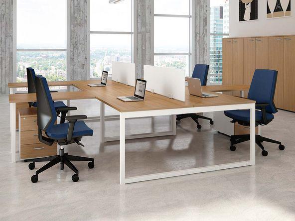 Meuble de bureau en bois bureau contemporain abi