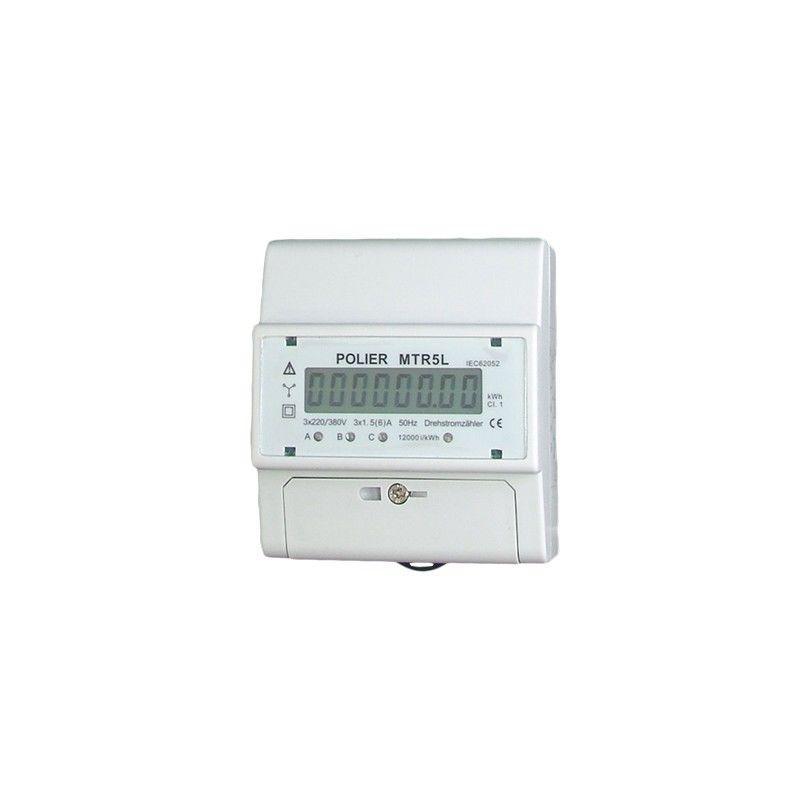 COMPTEUR MODULAIRE - TÉTRA - 5A POUR TC - AFFICHAGE LCD - POLIER