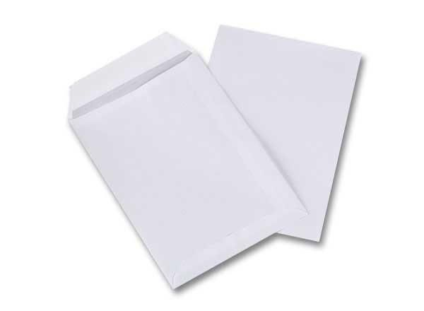 POCHETTES BLANCHES BANDE SILICONÉE 162X229 MM SANS FENÊTRE 90G ECO - NEUF - GPV PACK'N POST