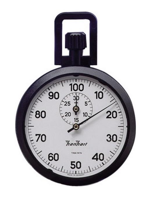 CHRONOMÈTRE DE PRÉCISION À COURONNE, GRADUATION : 1/100 MIN, DURÉE D'AFFICHAGE 30 MIN, POIDS 75 G - HANHART