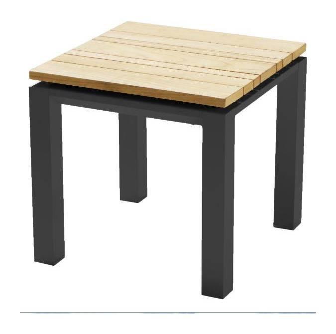 PIRCHER TABLE DE JARDIN SOHO 45X45 CM EN ALUMINIUM PEINT ANTHRACITE ...