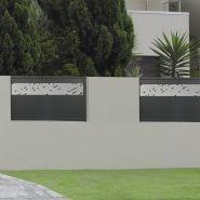 Clôture en aluminium noir
