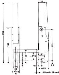 Ferrures et loqueteaux pour porte et petit portillion n 790 for Construction chambre froide pdf