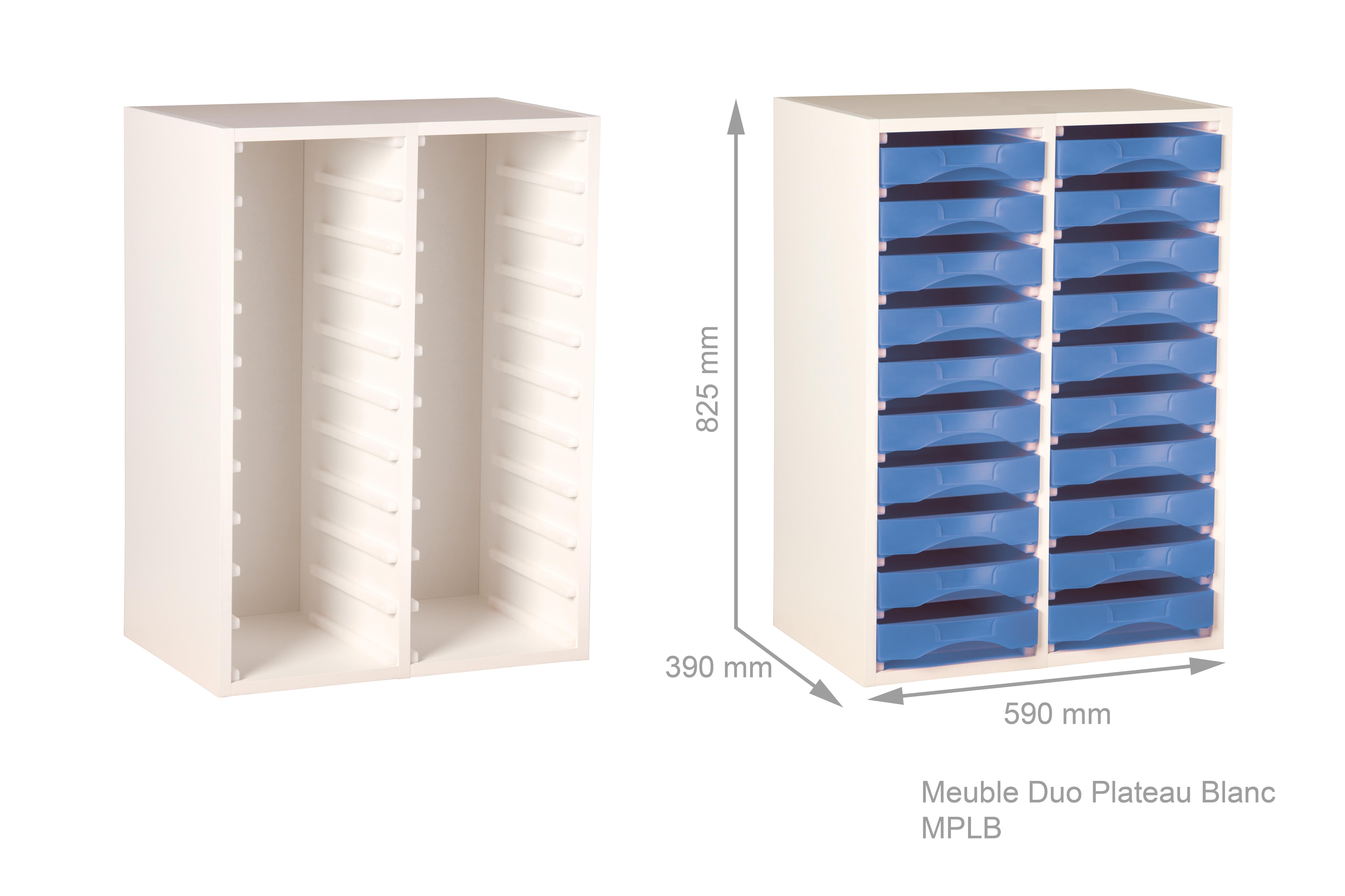 meuble bois blanc pour boites de rangement starbox plateau ref mplb. Black Bedroom Furniture Sets. Home Design Ideas