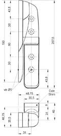 Charniere en composite porte pivotante isotherme pour chambre froide n 470 for Construction chambre froide pdf
