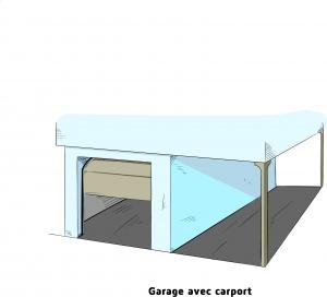 Garage avec carport ou garaport