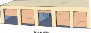 Garage en batterie
