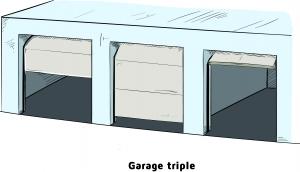 Garage triple