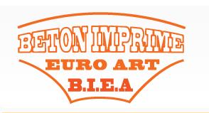 Béton imprimé Euro