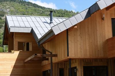 Maison ossature en bois multipente