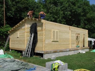 Maison ossature en bois préfabriquée