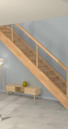 Quelles dimensions pour un escalier droit ?