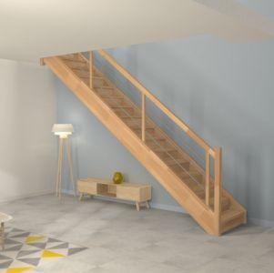 Escalier droit avec rampe