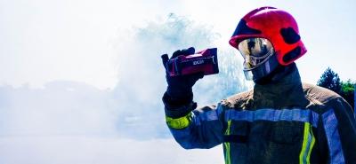 Caméra thermique pompier