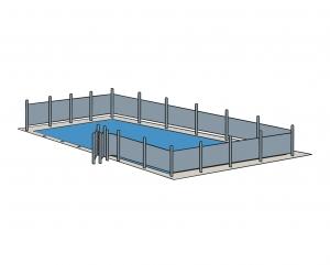 Barrière et clôture de piscine amovible