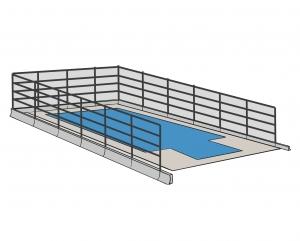 Barrière et clôture de piscine fixe