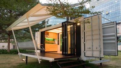 Container aménagé habitation logement conteneur