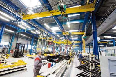 Pont Roulant Atelier Industrie Opérateur
