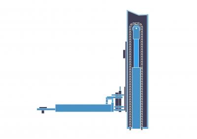Pont élévateur à vérin hydraulique