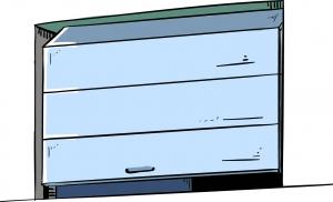 Porte de garage sectionnelle verticale