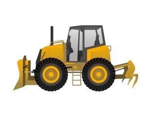 Bulldozer à pneus