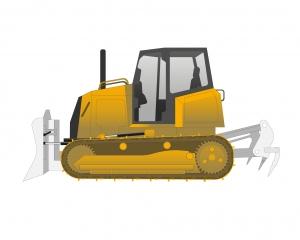 Tracteur bulldozer