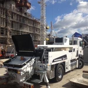 Pompe À Béton Mobile Camion Chantier Construction