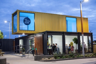 Restaurant container design moderne
