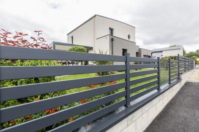 Clôture en aluminium pour jardin
