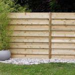 Clôture en bois pour jardin