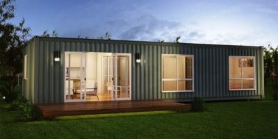 Maison container métal brut