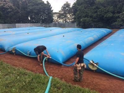 Citerne souple Bleue Installation