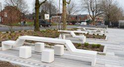 Mobilier urbain table et chaise