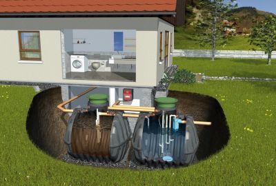 Micro-station d'épuration Vue