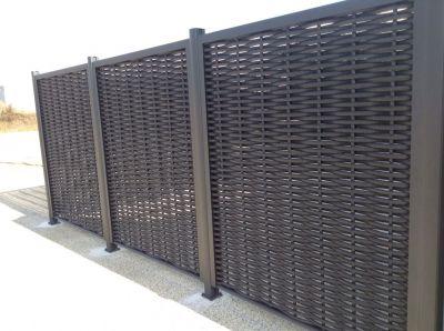 Clôture en aluminium tressé