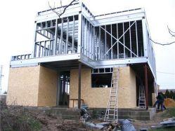 extension maison verticale en métal