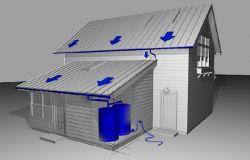 Rainwater collection conception
