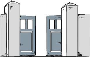 portail coulissant à double vantaux