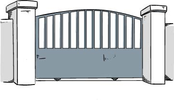 portail coulissant semi-ajouré