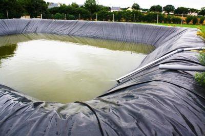 Bassin de rétention à ciel ouvert Bache eau