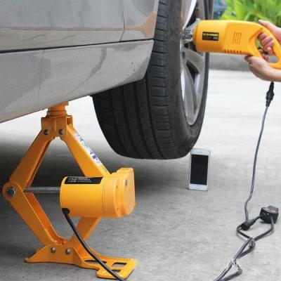 Cric électrique pneu moteur jaune