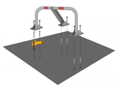 Installation barrière parking
