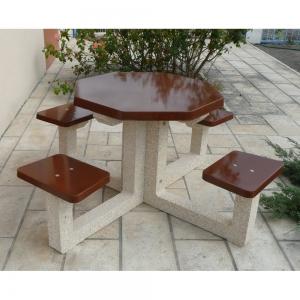 table de pique-nique en béton