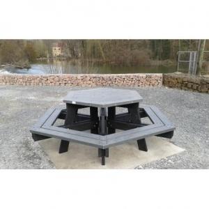 table de pique-nique polygonale