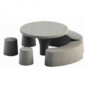 table de pique-nique ronde en béton