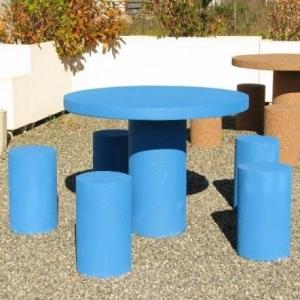 table pique-nique avec siège individuel
